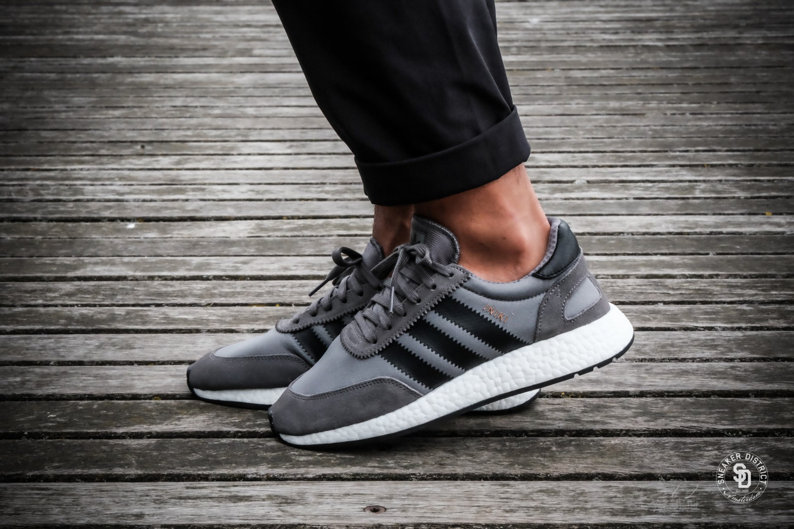 Adidas Iniki Runner Grey Four Core Black Footwear White