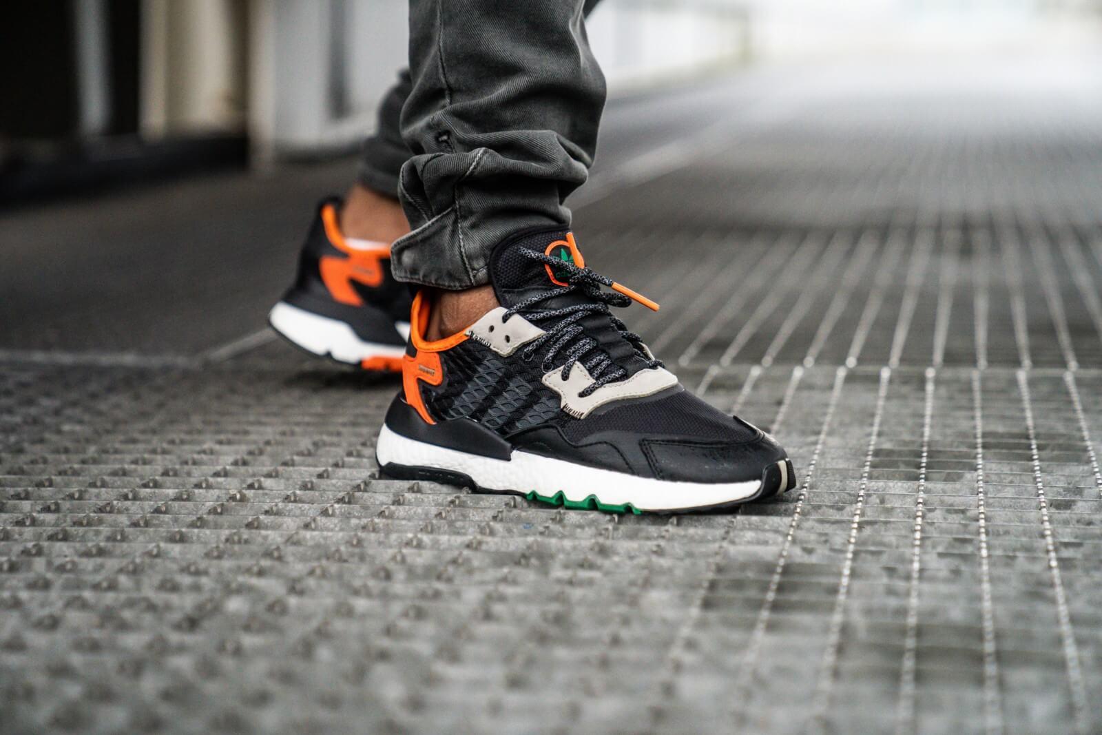 adidas nite jogger black grey