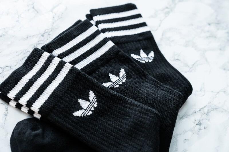 Adidas Solid Crew Socks Black/White