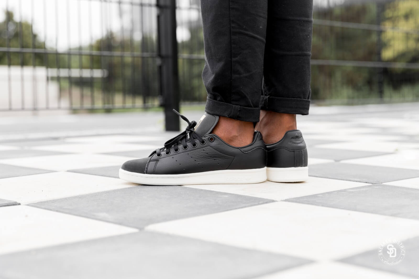 Adidas Stan Smith Premium Core Black/Gold Metallic - B37901