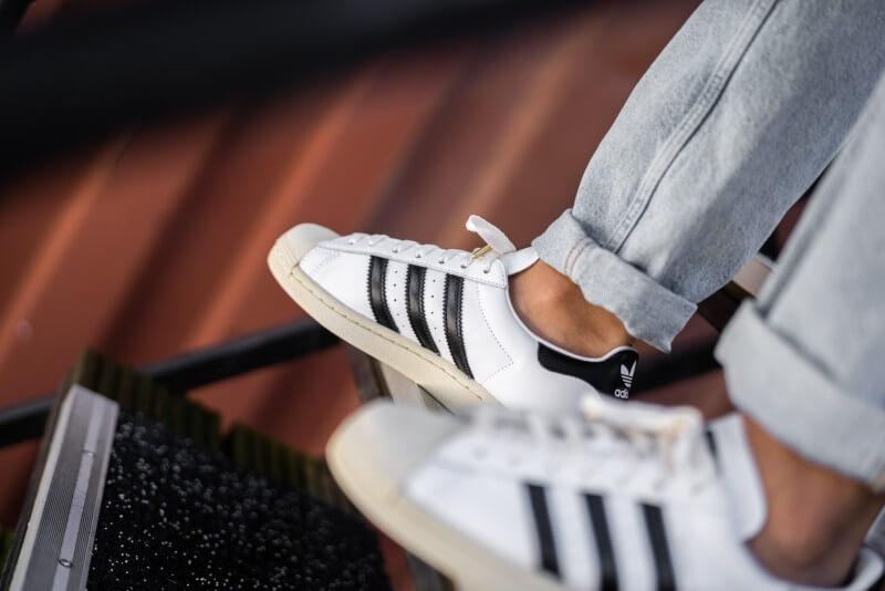 Adidas Superstar Cloud White/Core Black-Blue