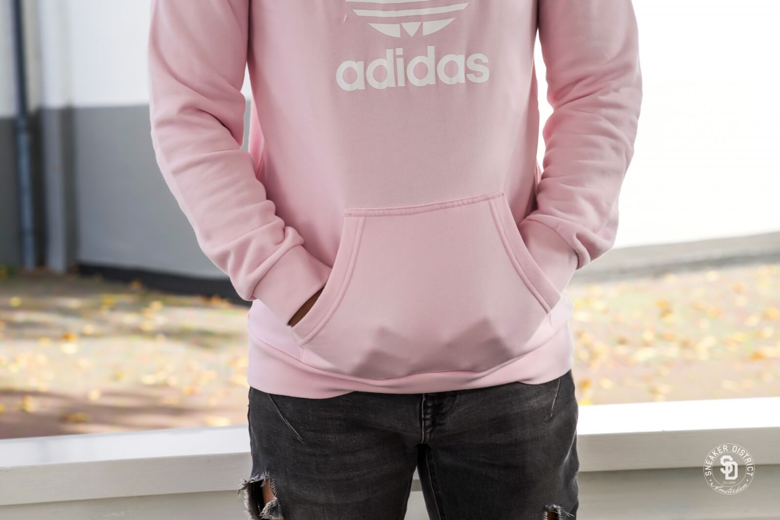 Super descuento sitio web profesional mejores zapatos Adidas Trefoil Hoodie Clear Pink - DT7966