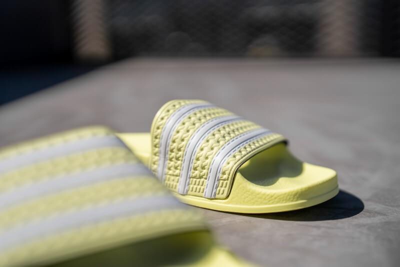 Adidas Women's Adilette Cloud White/Yellow Tint