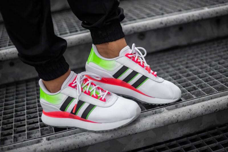 Adidas Women's SL Andridge Footwear White/Core Black-Signal Pink