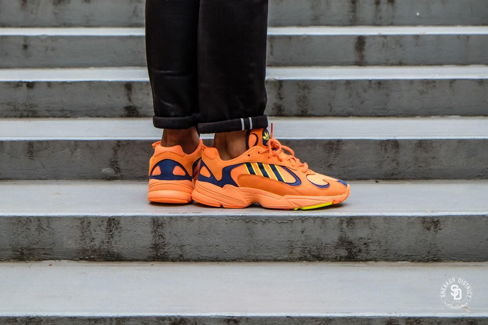 the cheapest nice shoes cheapest Adidas Yung 1 Hi-Res Orange/Shock Yellow - B37613