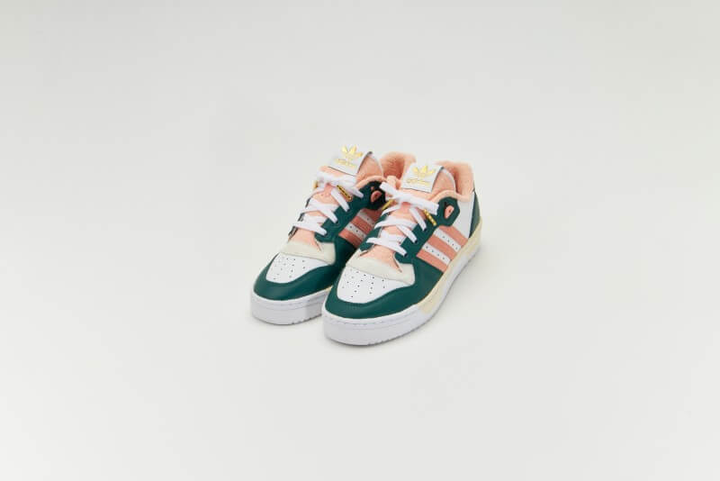 Adidas Rivalry Low Premium Clear Green/Glow Pink-Footwear White