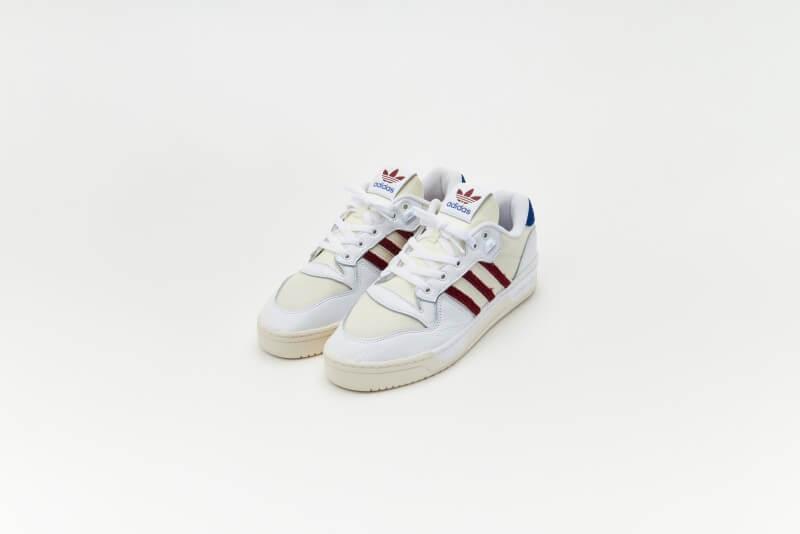 Adidas Rivalry Low Premium Footwear White/Collegiate Burgundy/Core White