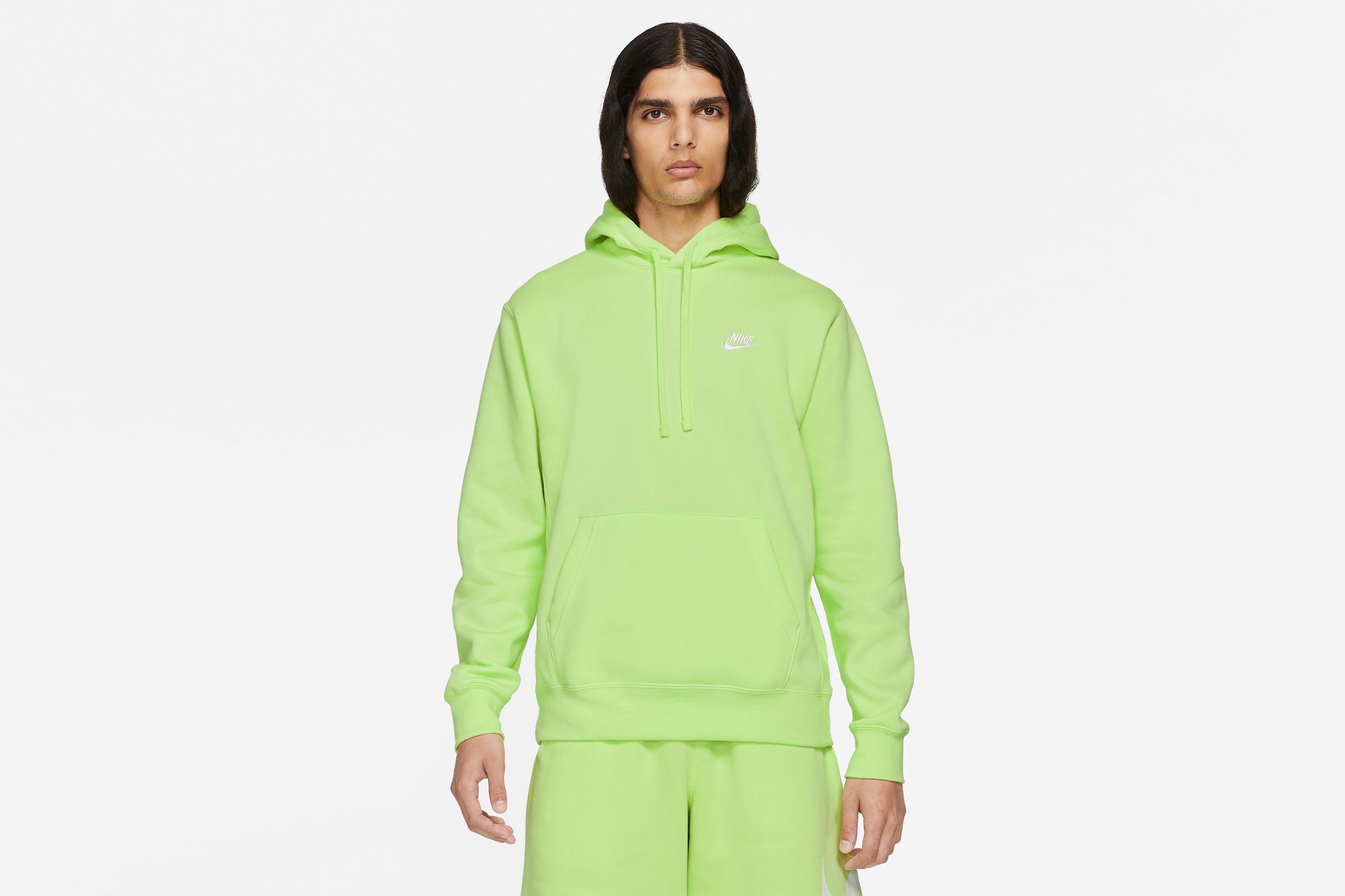 Nike NSW Club Fleece Hoodie BB Light Lemon Twist/White