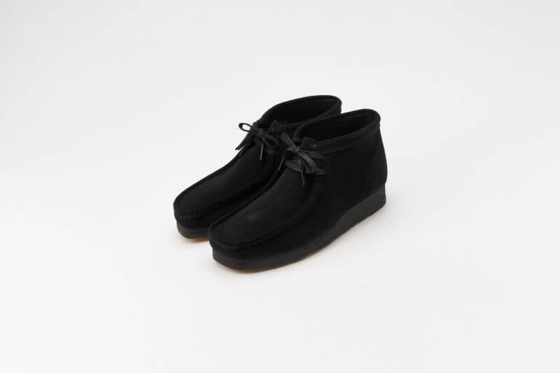 Clarks Wallabee Boot Black Suede