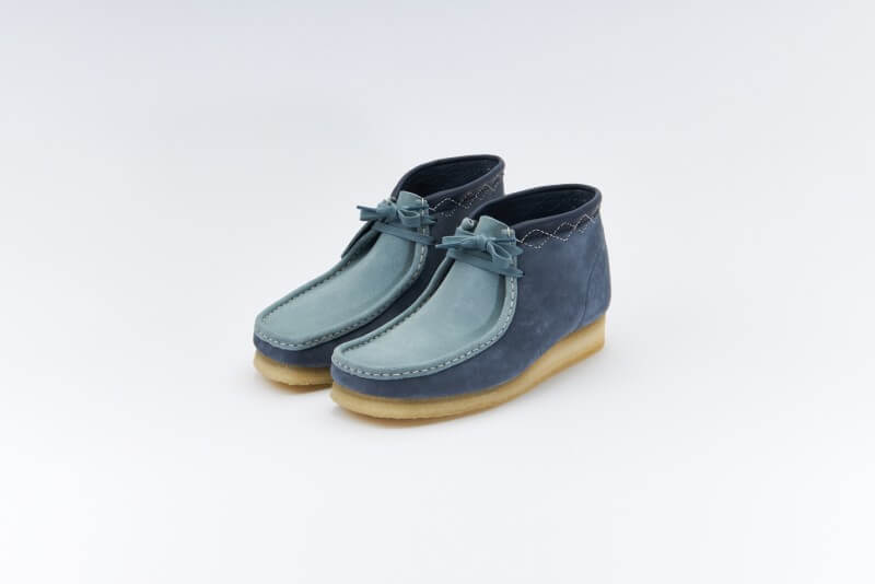 Clarks Wallabee Boot Blue Combi
