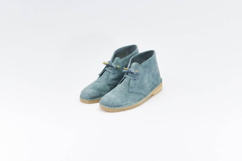 Clarks Women's Desert Boot Ocean Blue Suede