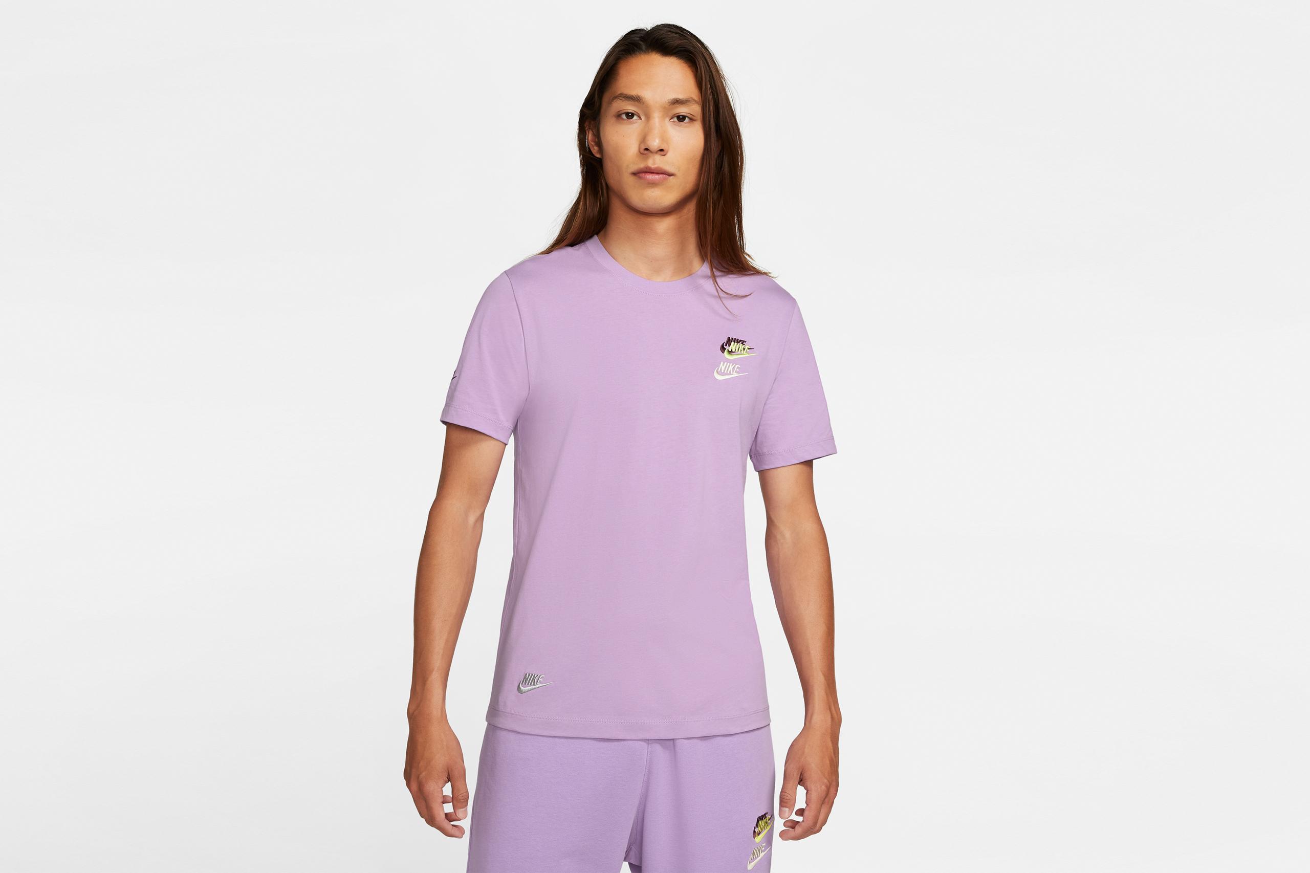 Nike NSW Tee Club Essentials Violet Star