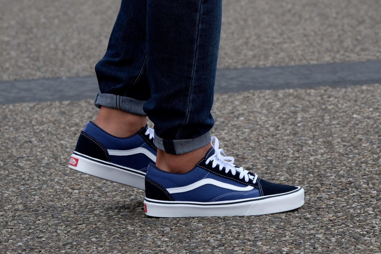 vans old skool lite suede canvas navy white vn0004o6ivf