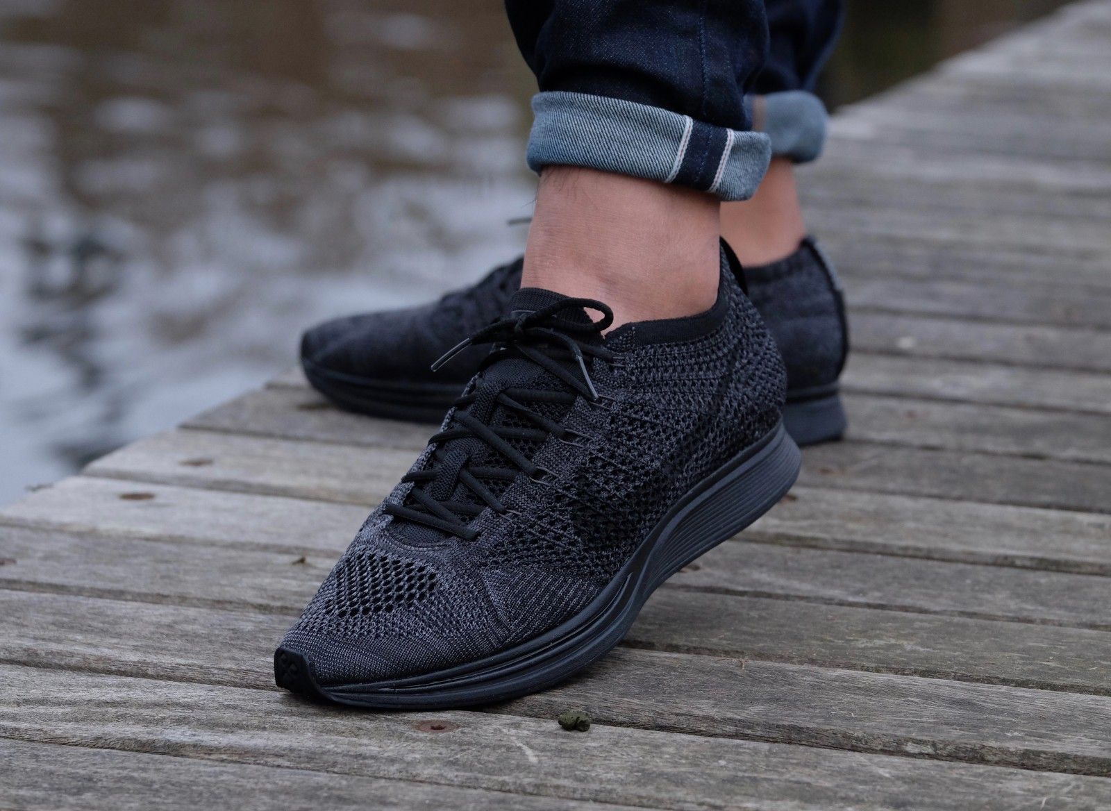 new product a6a04 a6035 ... Nike Flyknit Racer Black Black-Anthracite ...
