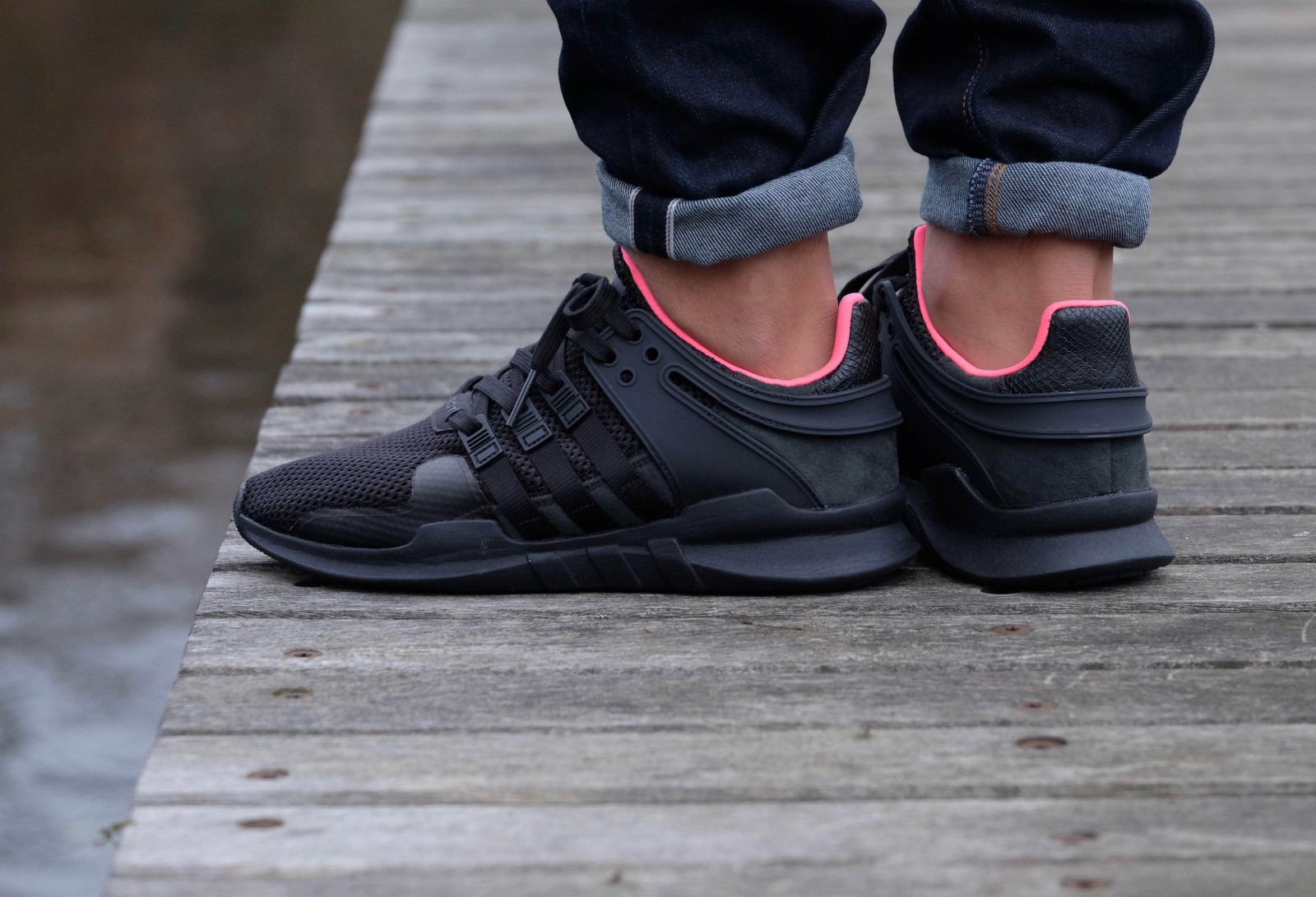 Adidas Originals EQT Support 93/17 'Glitch Camo' Core Black/White