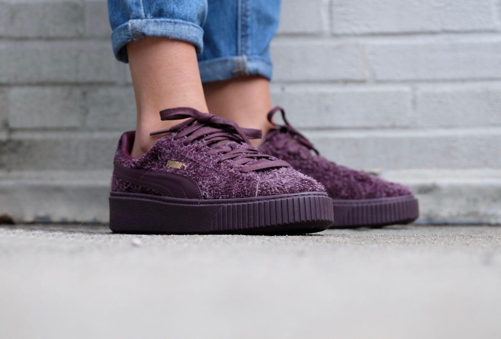 puma platform violet