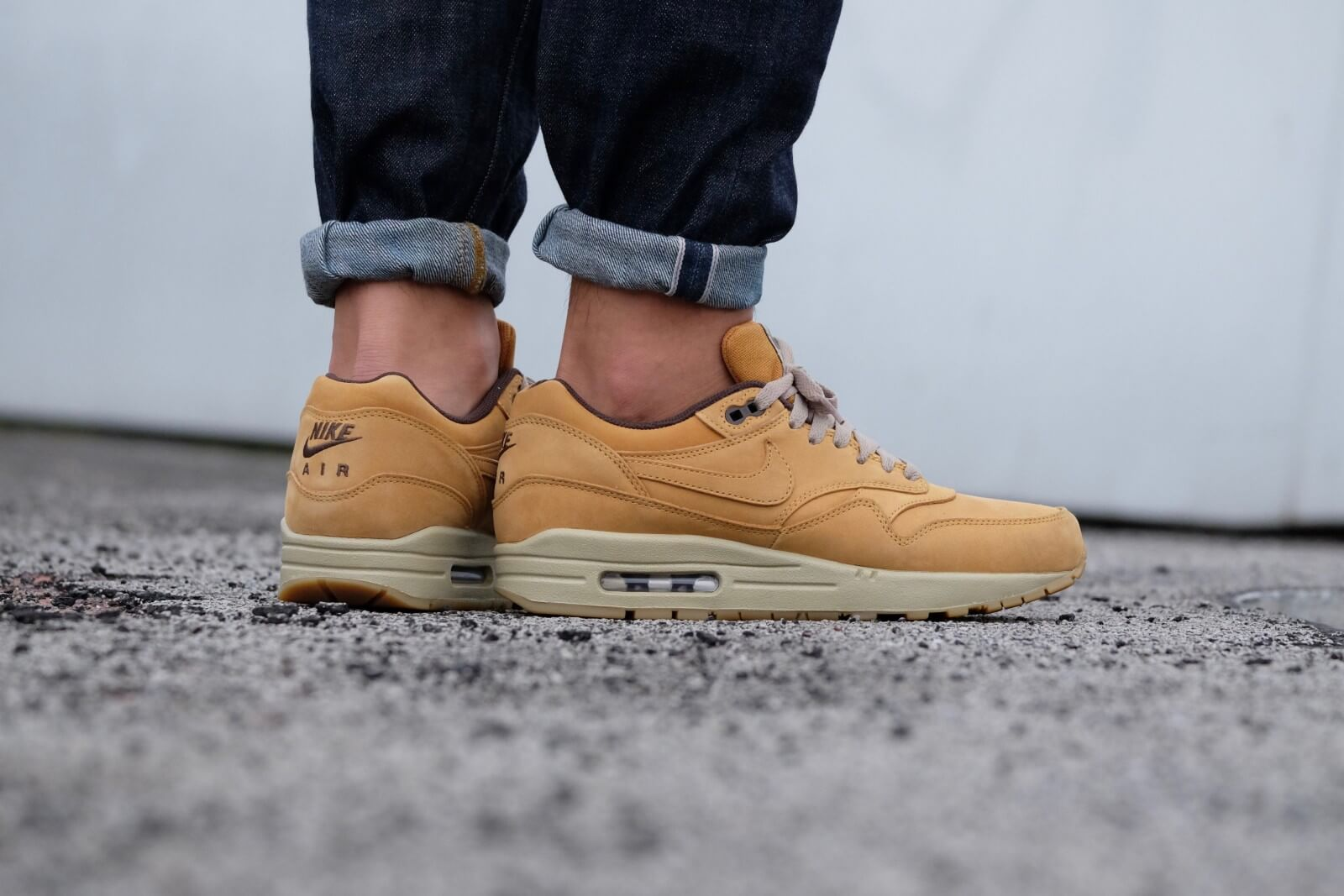nike air max 1 leather premium bronze baroque brown bamboo