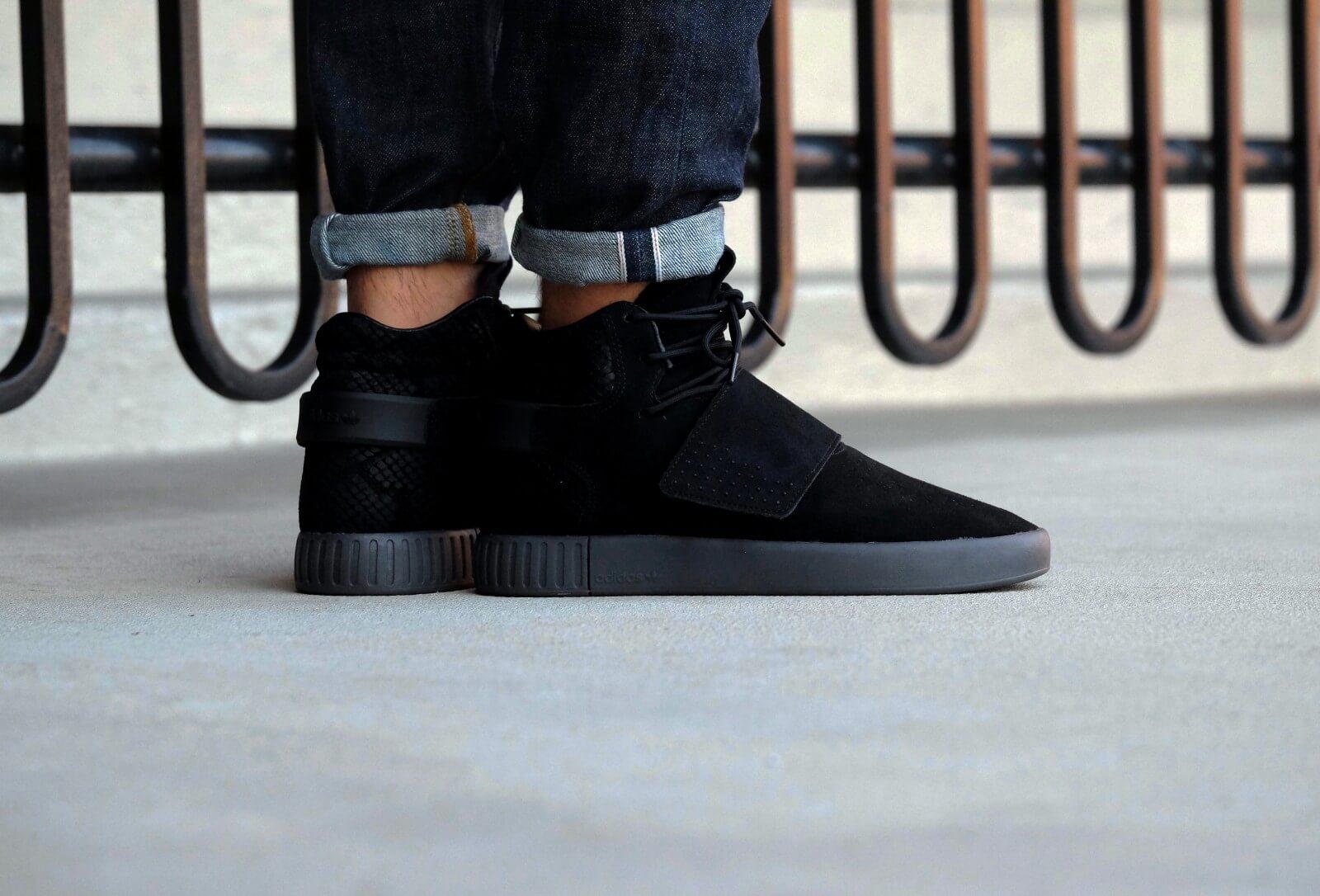 adidas tubular invader strap noire