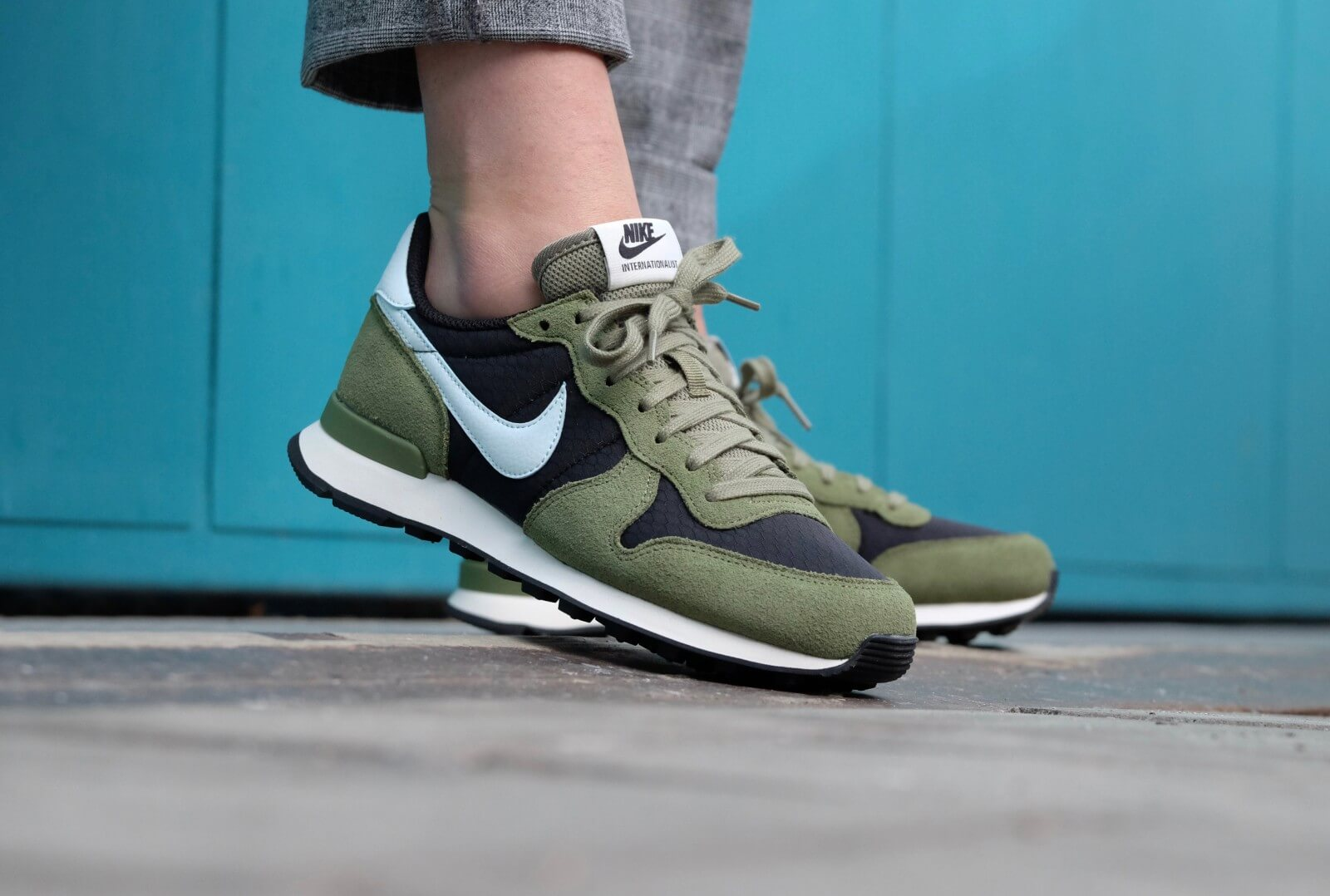 nike internationalist dames green