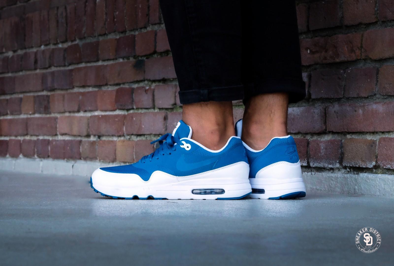 nike air max 1 blue white
