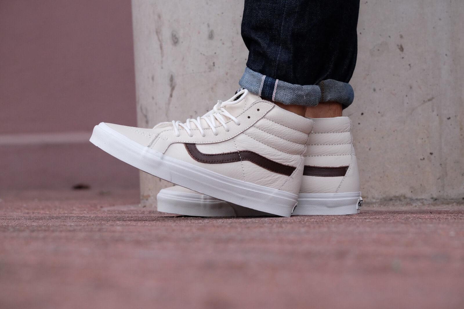 Vans Sk8-Hi Reissue Leather - Blanc / Potting Soil - VN0A2XSBLYT