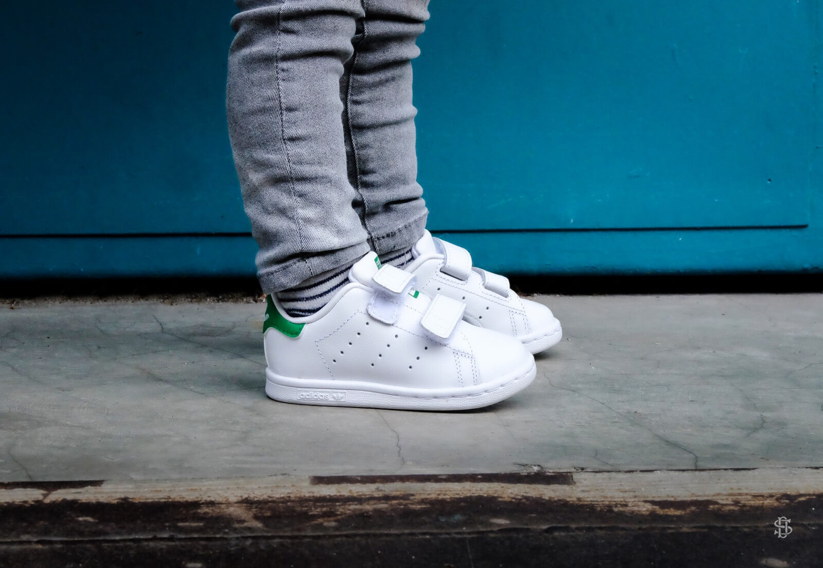 Adidas Stan Smith CF Infant Footwear White Green M20609