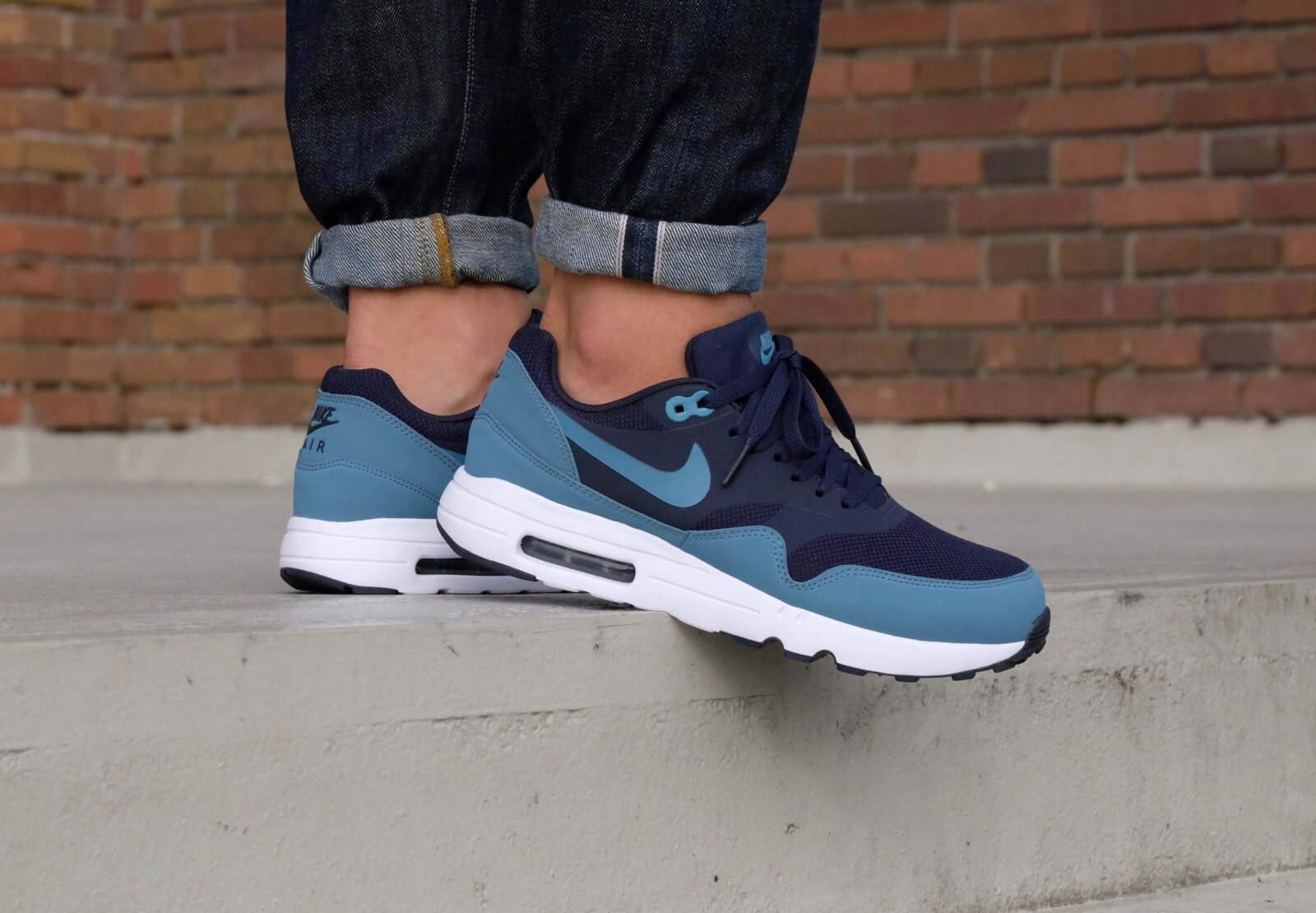 new product b2fc2 25840 ... Nike Air Max 1 Ultra 2.0 Essential ObsidianSmokey Blue-Smokey  Blue-White - 875679 ...