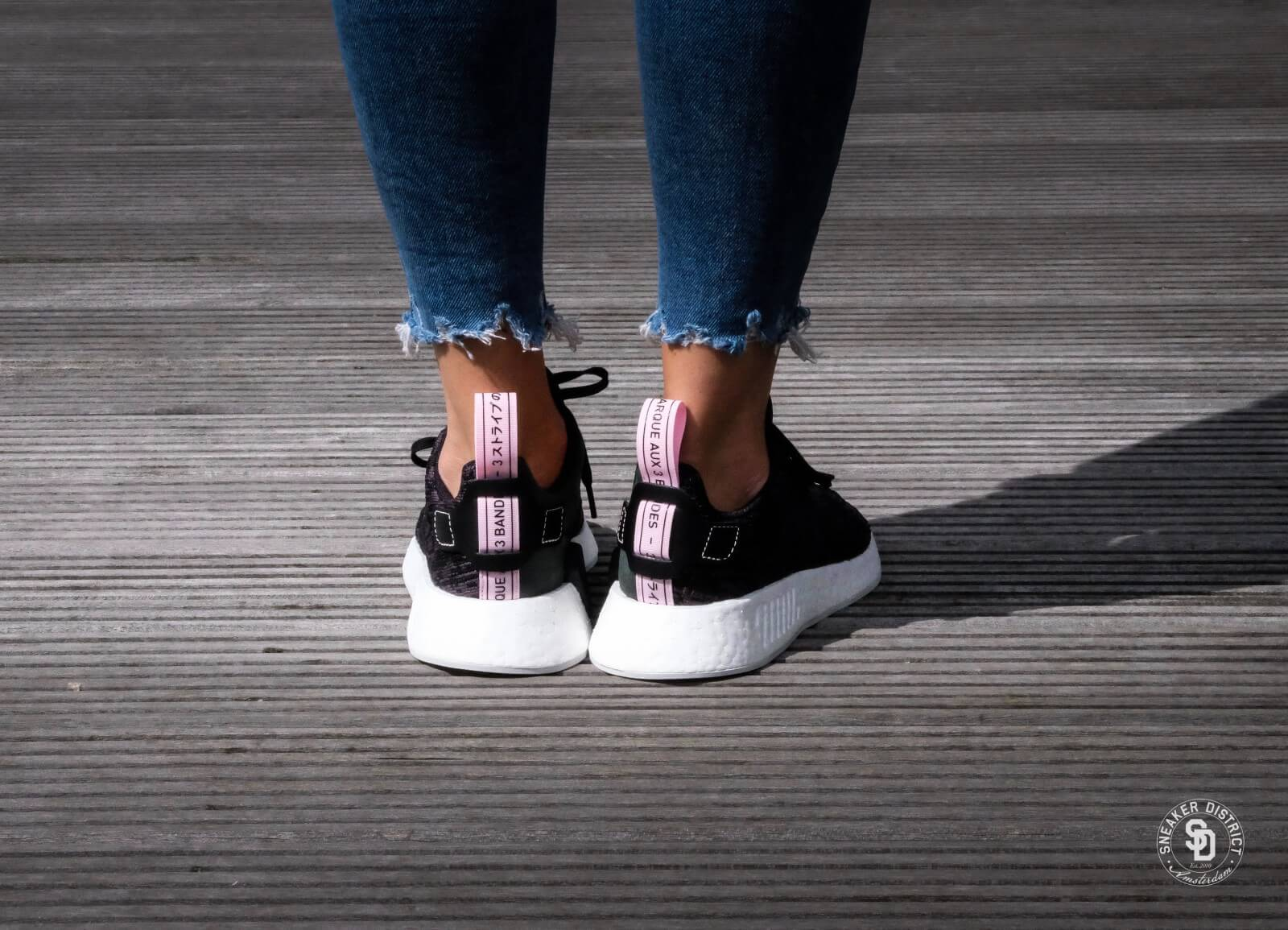 ac9a962cc adidas The NMD R2 Primeknit Sneaker in Core Black and Core Red