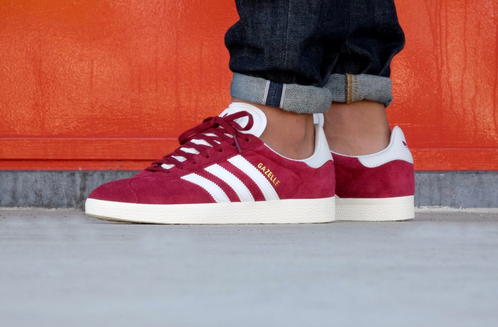 adidas gazelle burgundy white gold metallic
