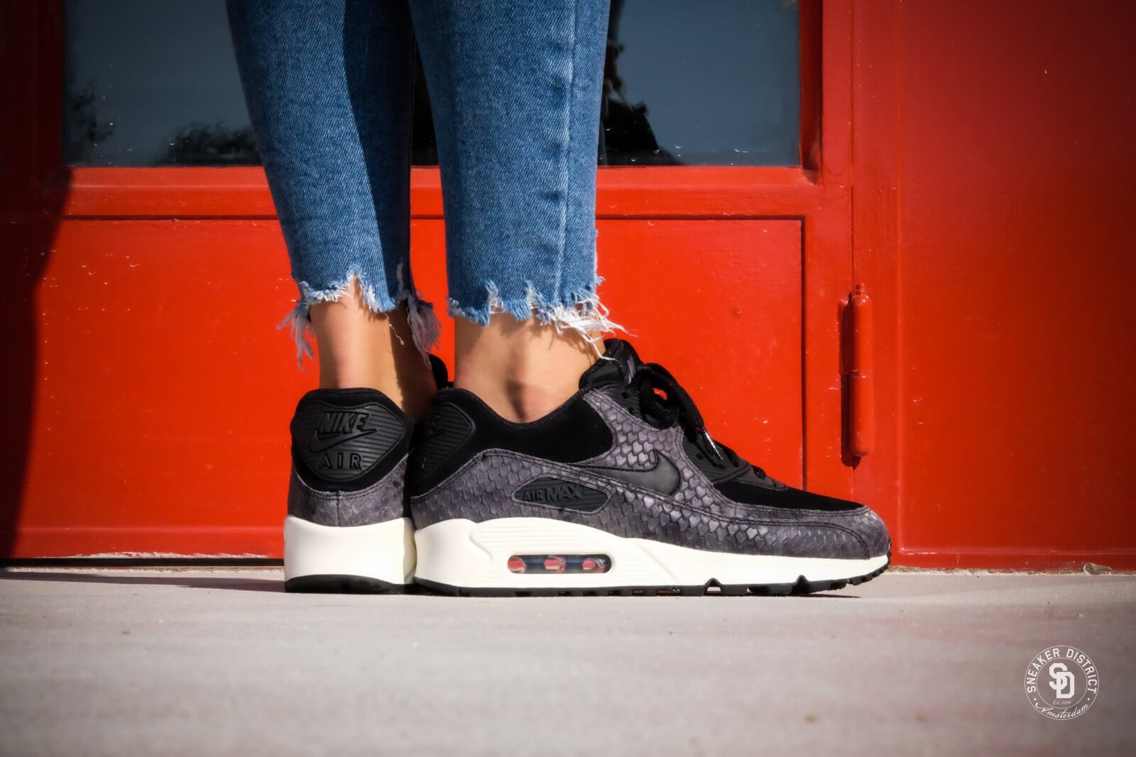 quality uk cheap sale really comfortable Nike WMNS Air Max 90 PRM Black/Sail-Dark Grey - 896497-005
