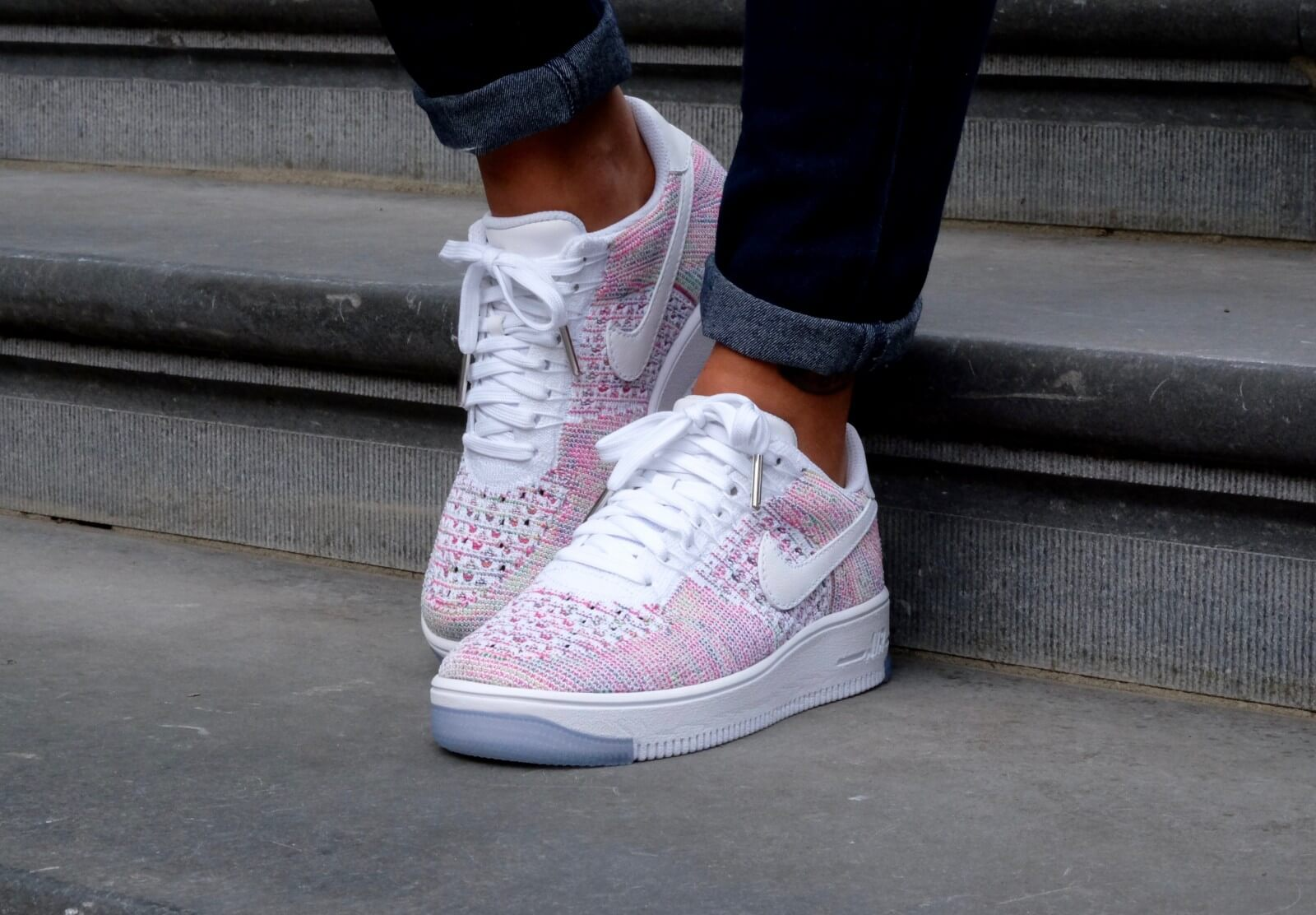 best authentic b9c6a 3210e Nike Air Force 1 Flyknit White Radiant Emerald