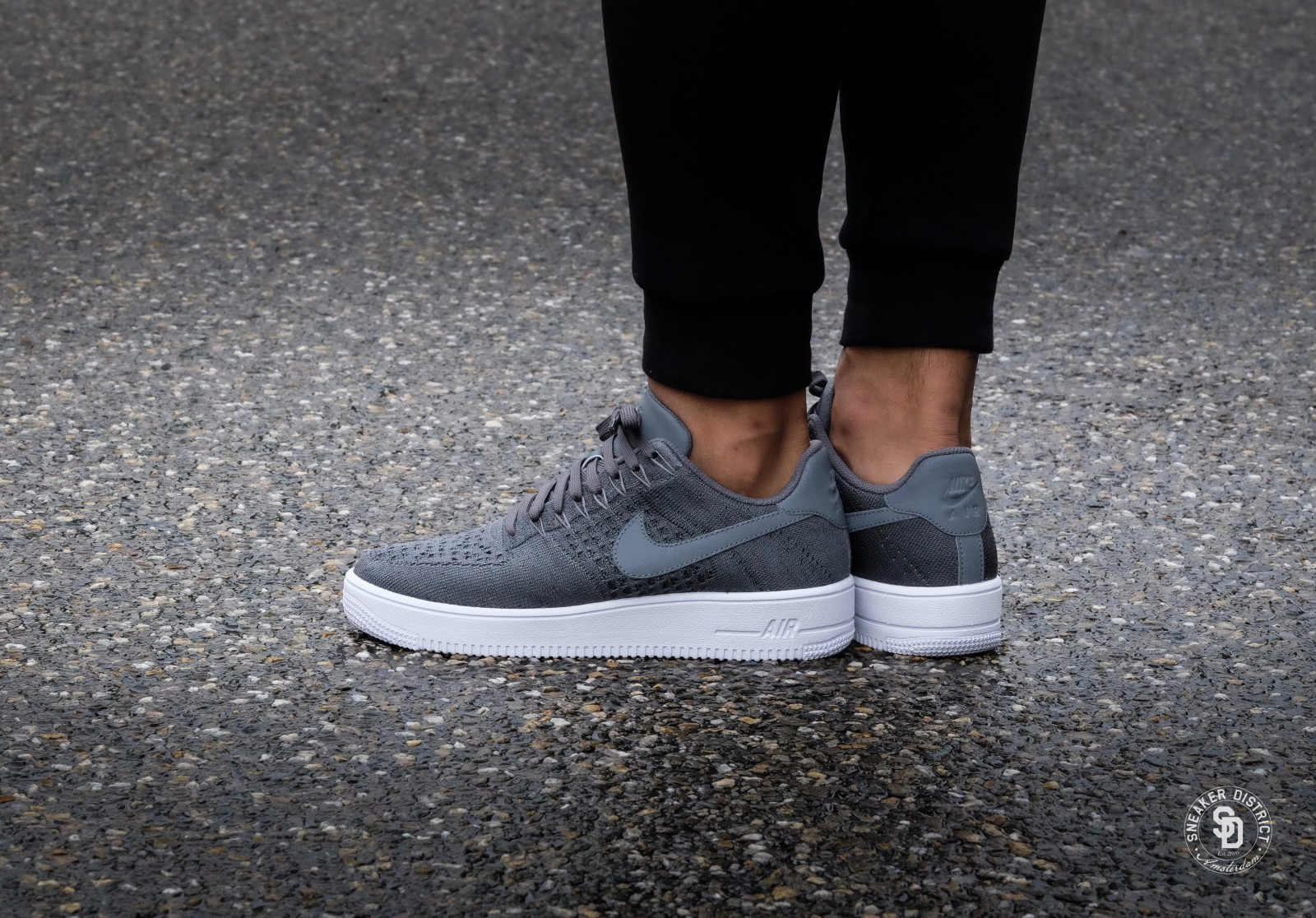 grey air force 1 flyknit