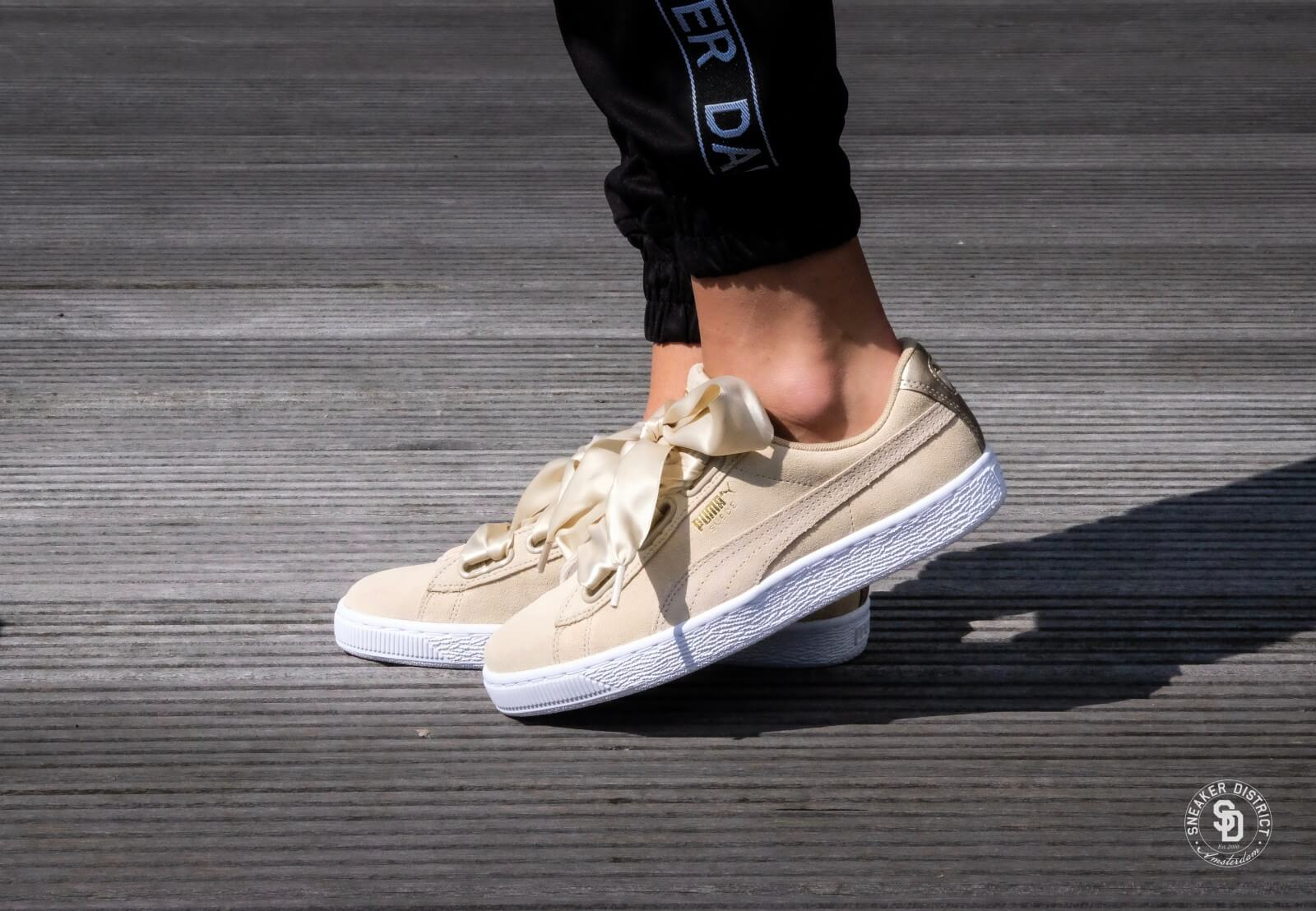 puma suede heart metallic safari