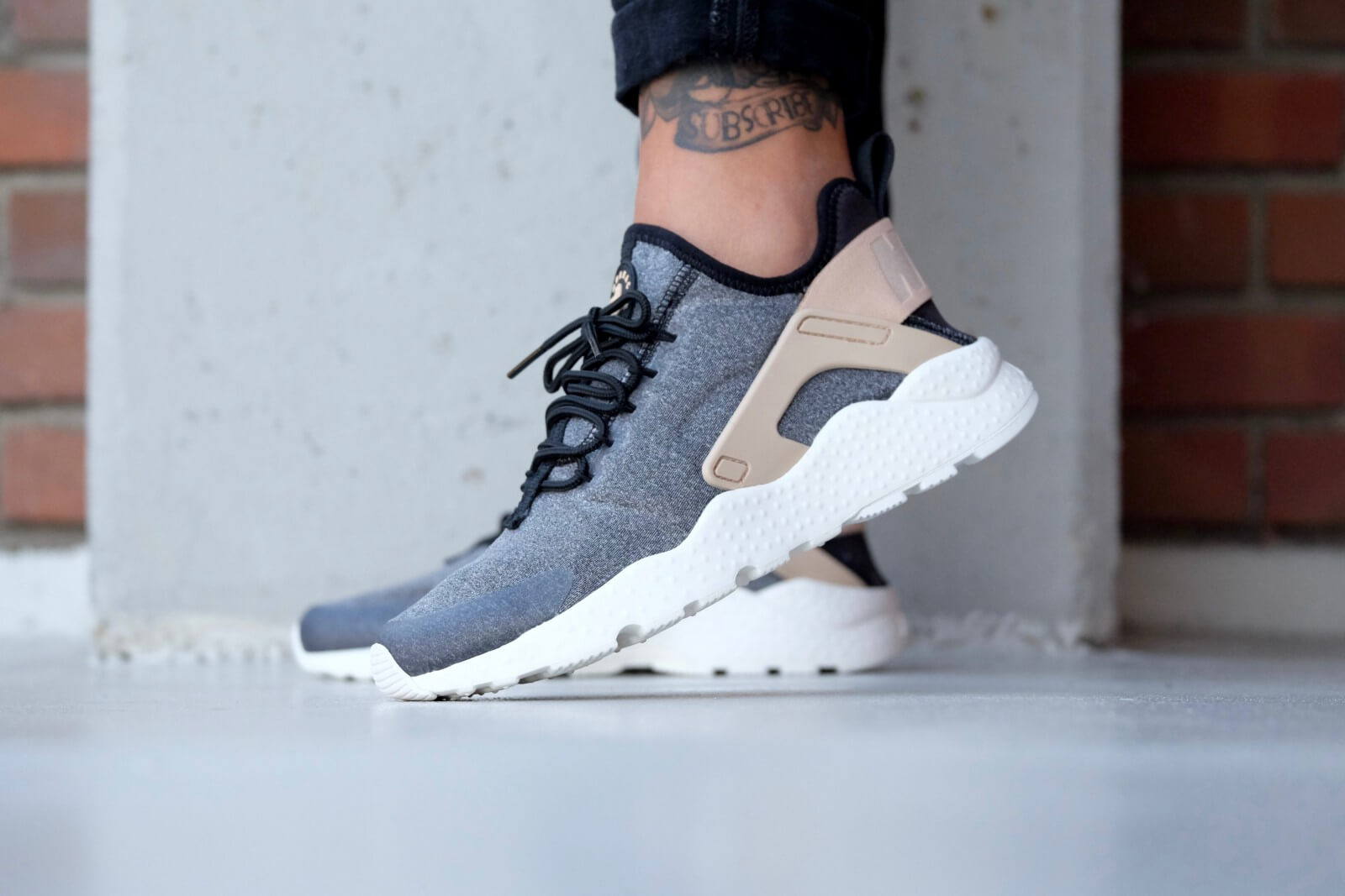 22cea7ce1383b Nike WMNS Air Huarache Ultra Special Edition Black  White-Vachetta Tan ...