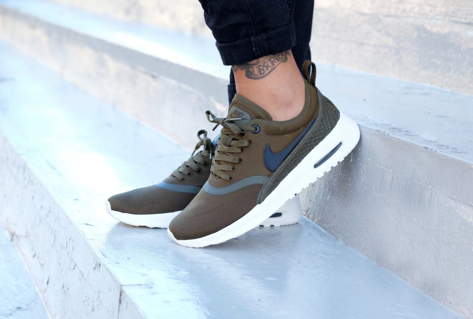 cheap for discount 25853 b3e14 ... Nike WMNS Air Max Thea Ultra Premium Dark Loden  Black Ivory -  848279-300 ...