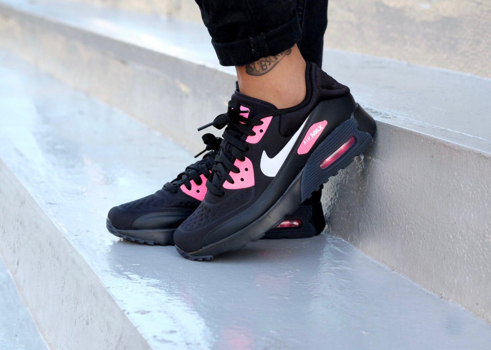 Kids Nike AIR MAX 90 ULTRA SE (GS) BlackWhite Hyper Pink
