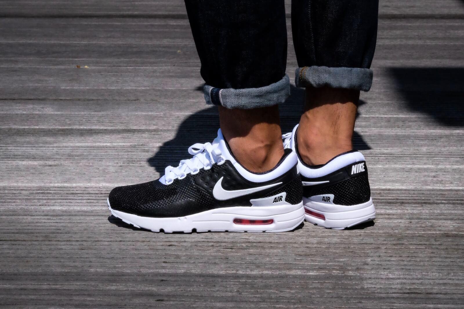 Men's Cheap Nike Air Max Zero Black Red Casual u]RLQ6 Shoes