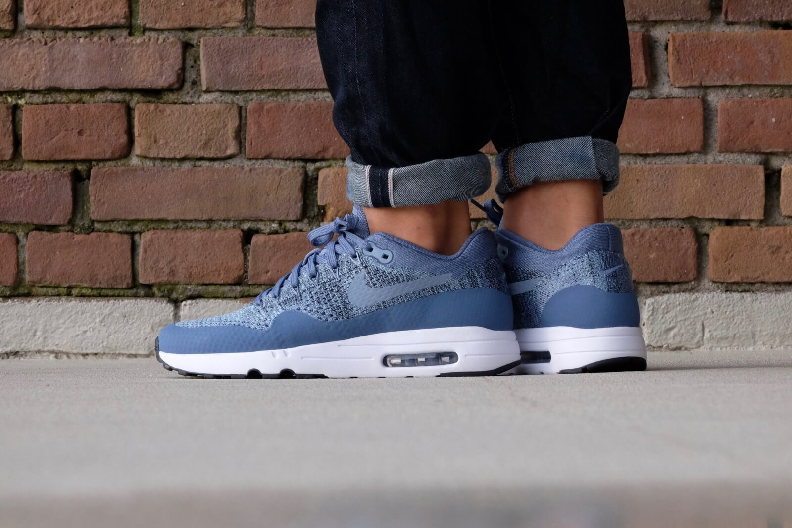 cost charm attractive price size 40 usa nike air max 1 flyknit blue be9aa ad3a1
