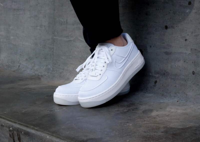 df2e73e7a95 Nike WMNS Air Force 1 Low Upstep BR White Glacier Blue - 833123-101