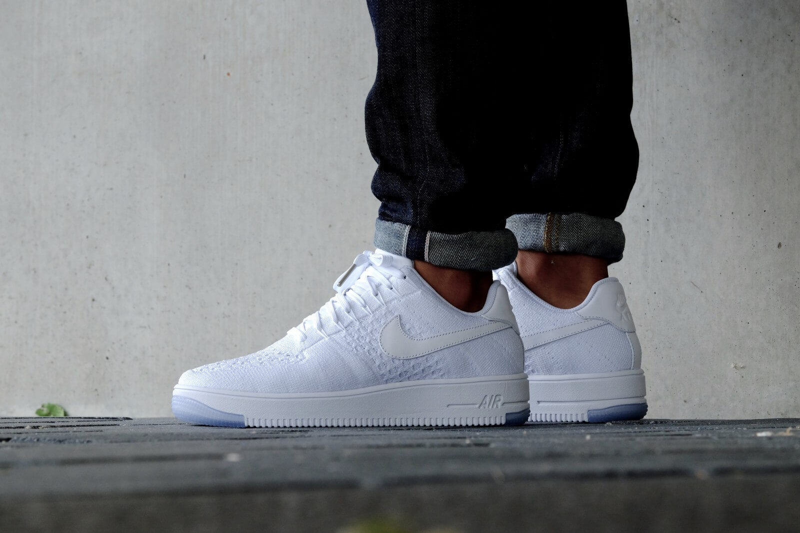 16214bf4867dbd Nike Air Force 1 Flyknit Low White Ice ukpinefurniture.co.uk