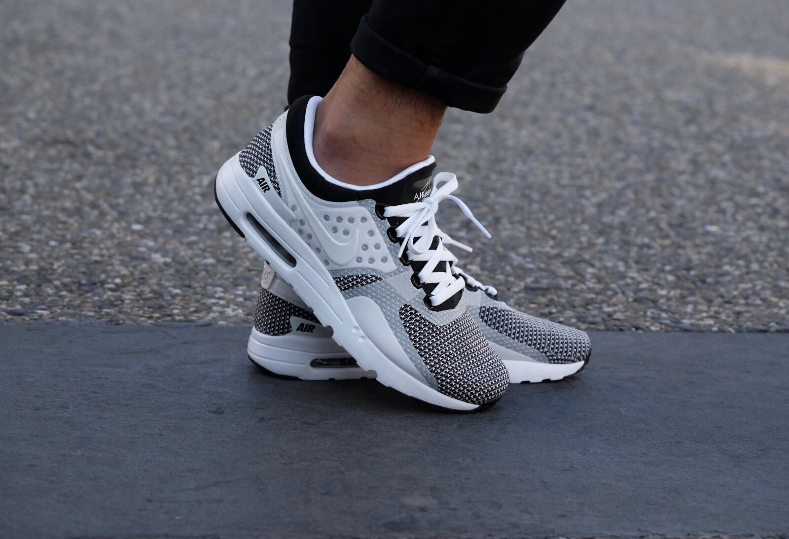 mens nike air max zero white grey