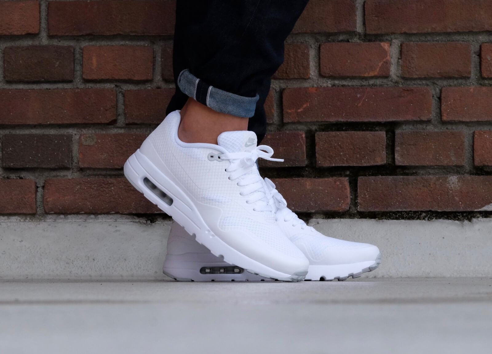 Nike Air Max 1 Essential Trainers White leoncamier.co.uk