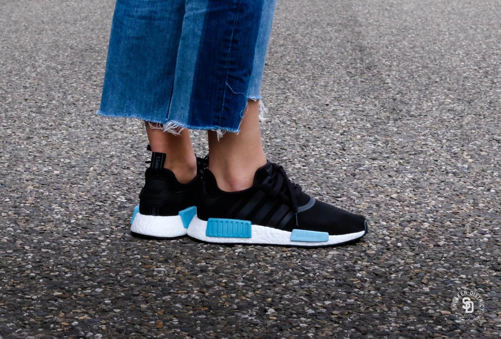 Adidas Wmns Nmd R1 Core Black Icey Blue By9951