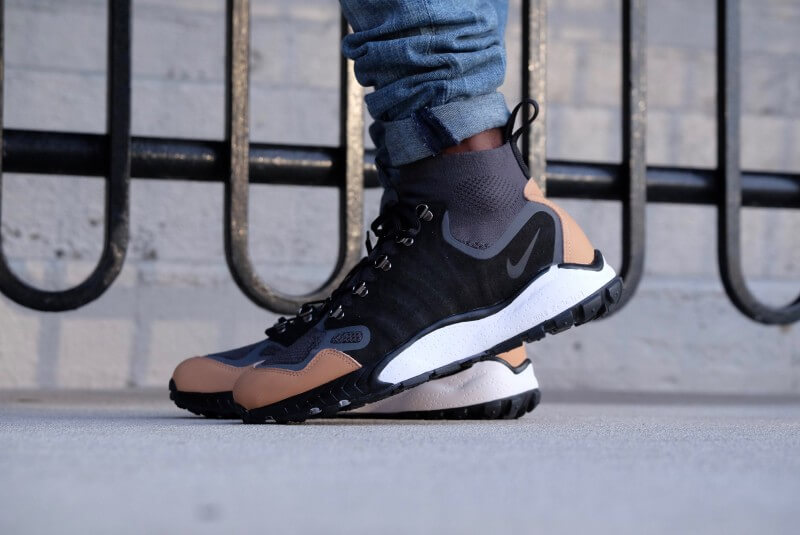 acadb01546c Nike Air Zoom Talaria Mid Flyknit PRM Anthracite black-vachetta tan-dark  grey - 875784-001