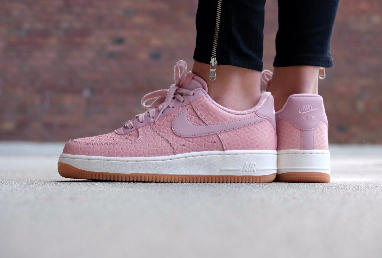 nike wmns air force 1 39 07 pink glaze pink glaze pink glaze. Black Bedroom Furniture Sets. Home Design Ideas