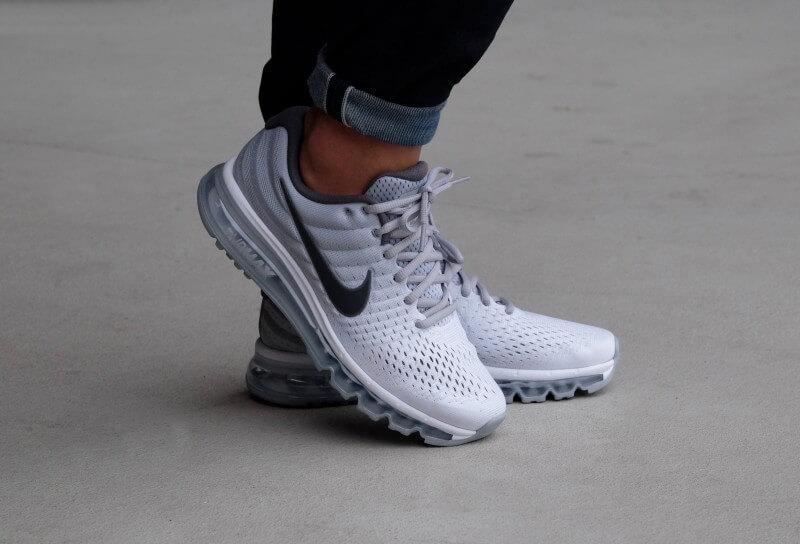 Nike Air Max 2017 White Dark Grey-Wolf Grey - 849559-101 fc7686d2d