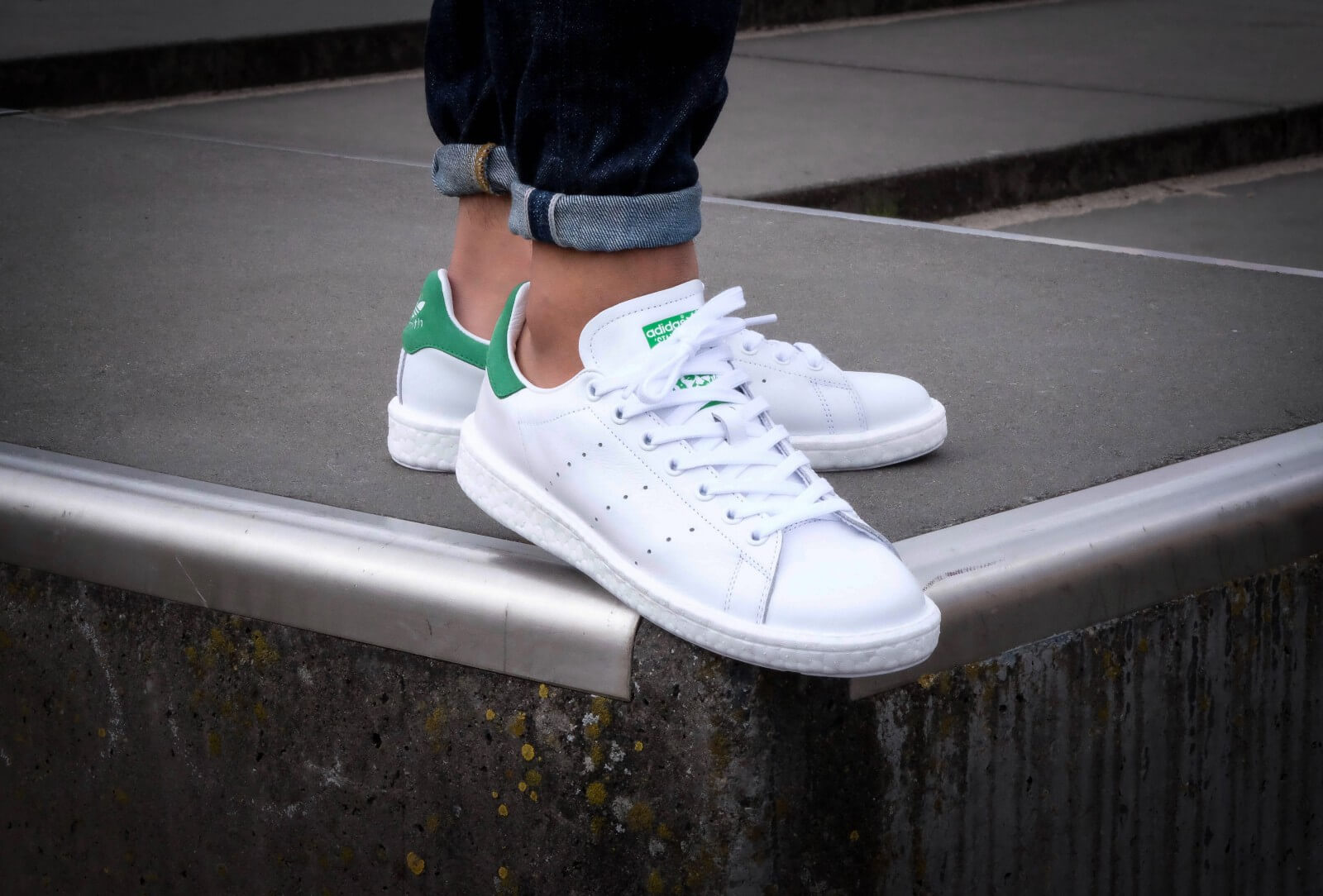 adidas Men Stan Smith Boost (WhiteFootwear WhiteGreen)