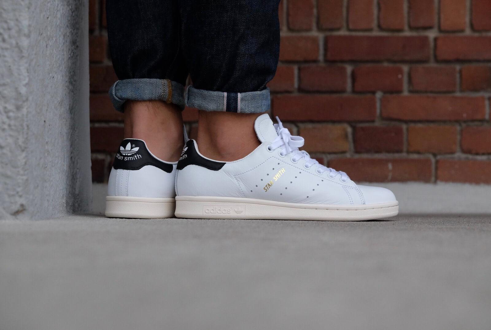 adidas stan smith white black