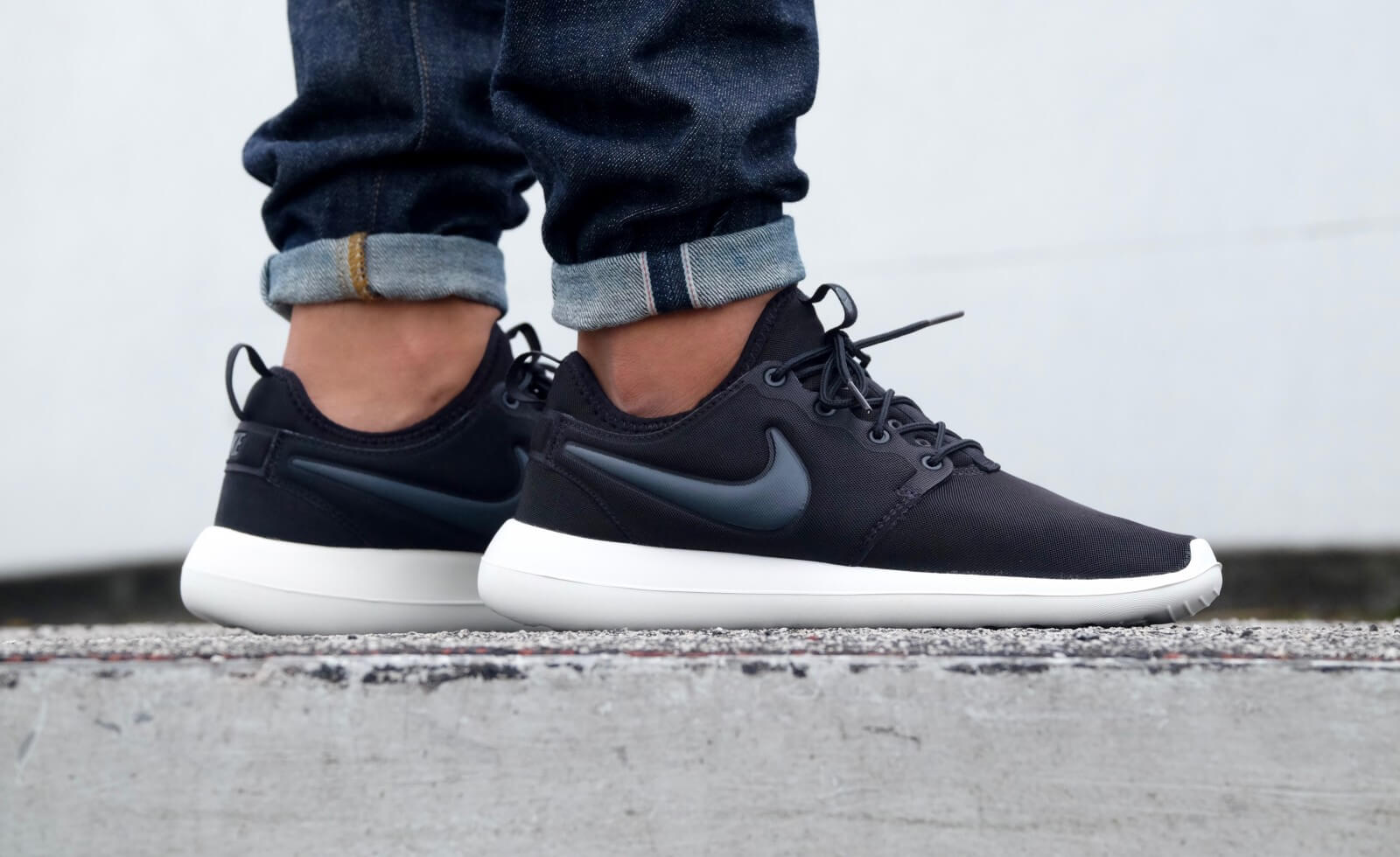 nike roshe two dames zwart