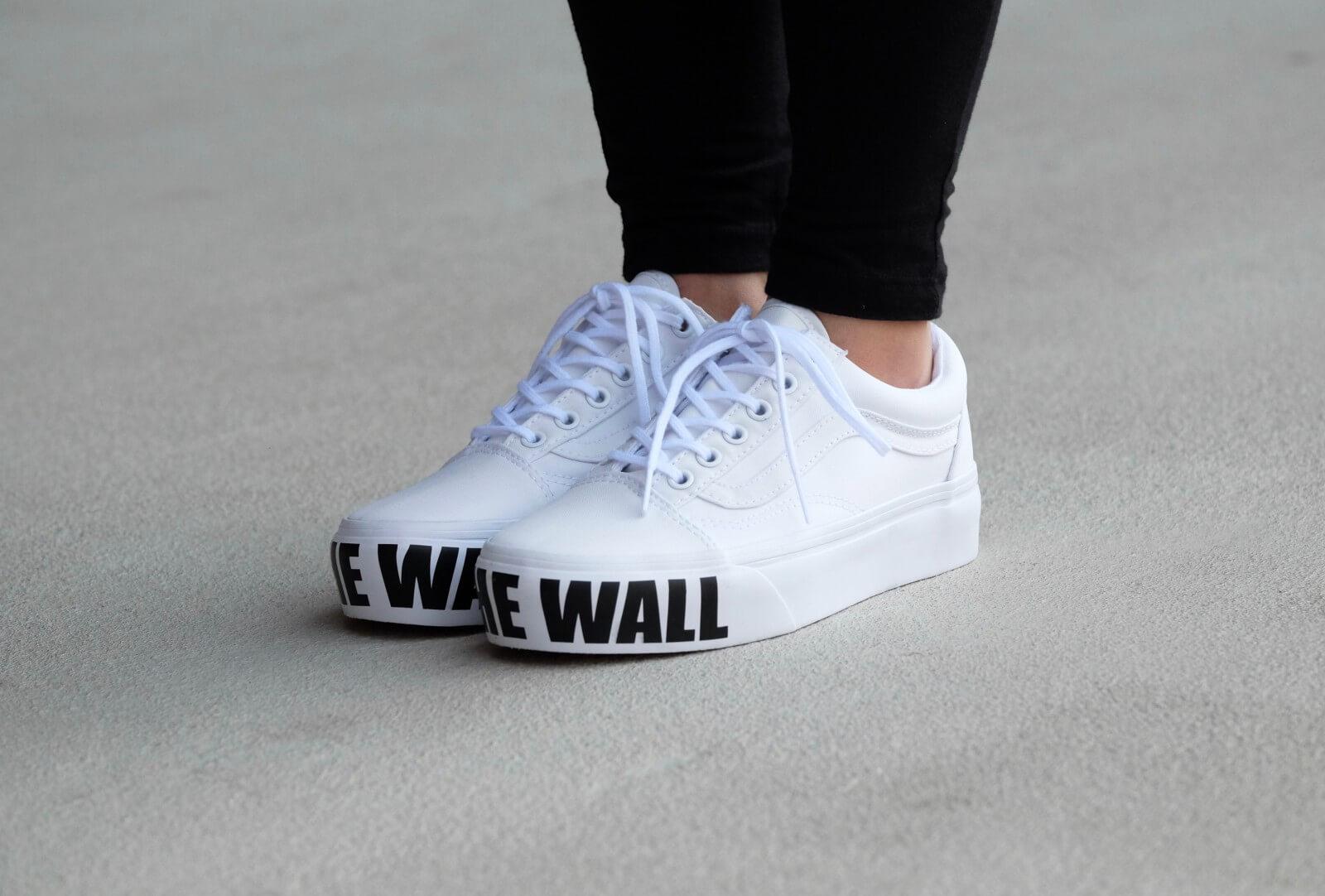Vans Old Skool Platform True White Off The Wall